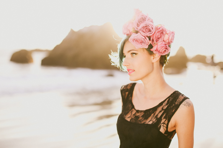 kassia, kassia phoy, california, el matador, liz vranesh, liz, flowers, flower crowns, pretty, sunset, beach, portrait, beautiful-3