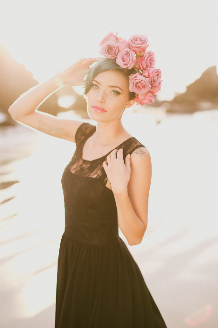 kassia, kassia phoy, california, el matador, liz vranesh, liz, flowers, flower crowns, pretty, sunset, beach, portrait, beautiful-5